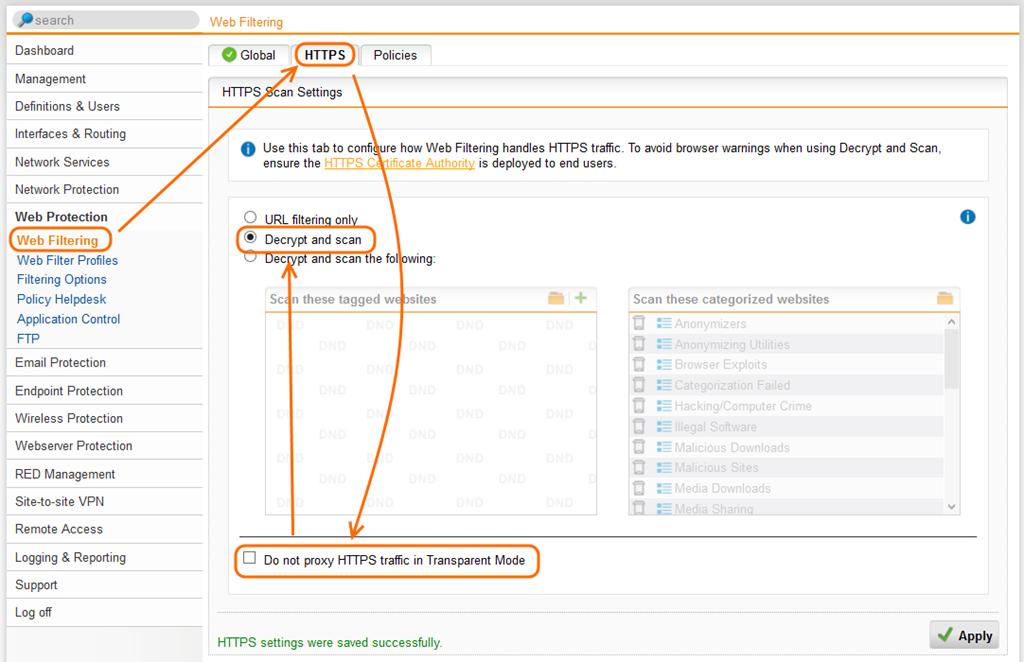 Content-Filter für SSL Seiten auf Sophos UTM einrichten   ictschule