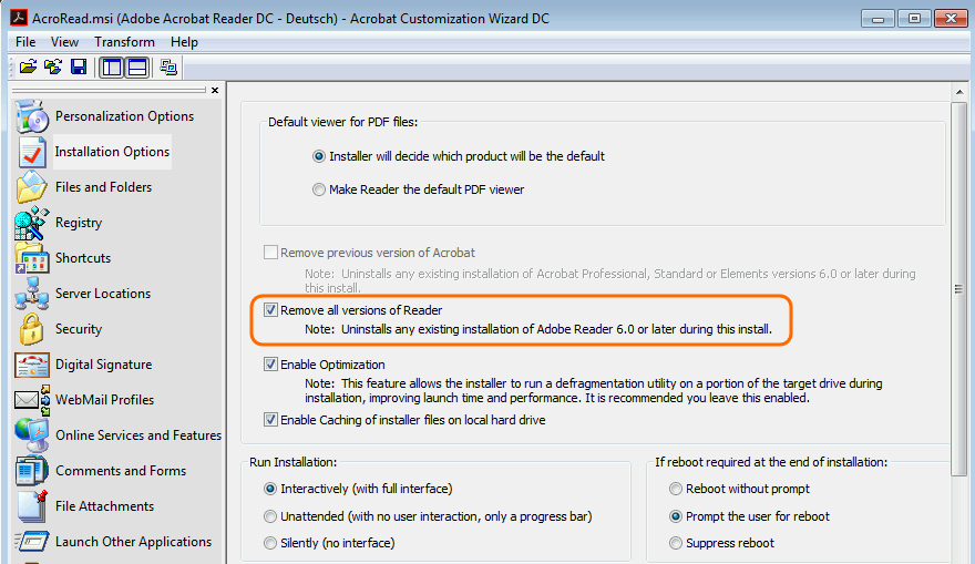 how to use adobe customization wizard dc