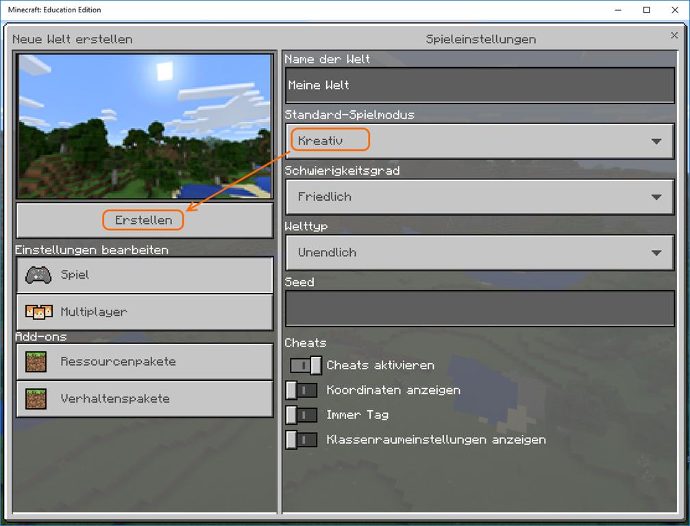 Minecraft Spielen Deutsch Minecraft Server Neue Welt Erstellen Bild - Minecraft server welt erstellen